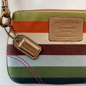 Coach Legacy Striped Wristlet